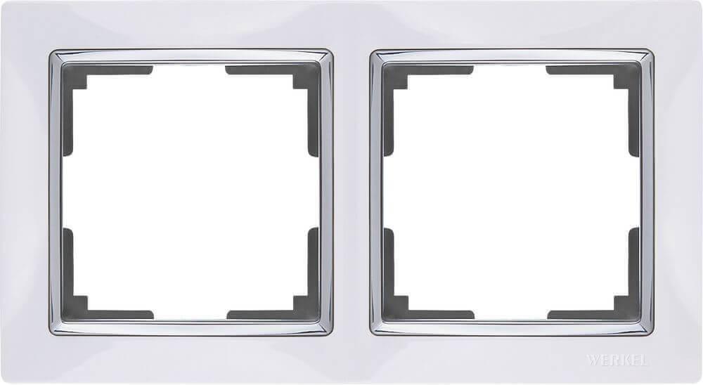 Рамка Werkel Snabb на 2 поста белая WL03-Frame-02-white 4690389046117