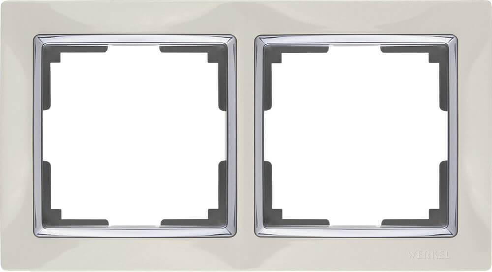 Рамка Werkel Snabb на 2 поста слоновая кость WL03-Frame-02-ivory 4690389046315