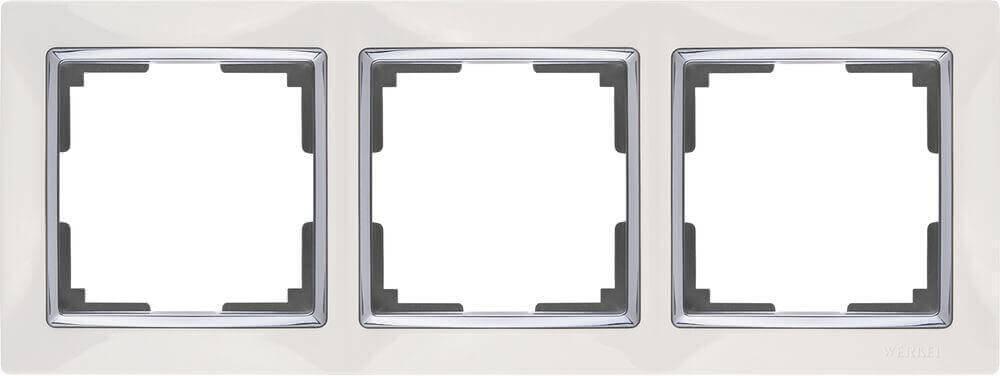 Рамка Werkel Snabb на 3 поста белая WL03-Frame-03-white 4690389046124