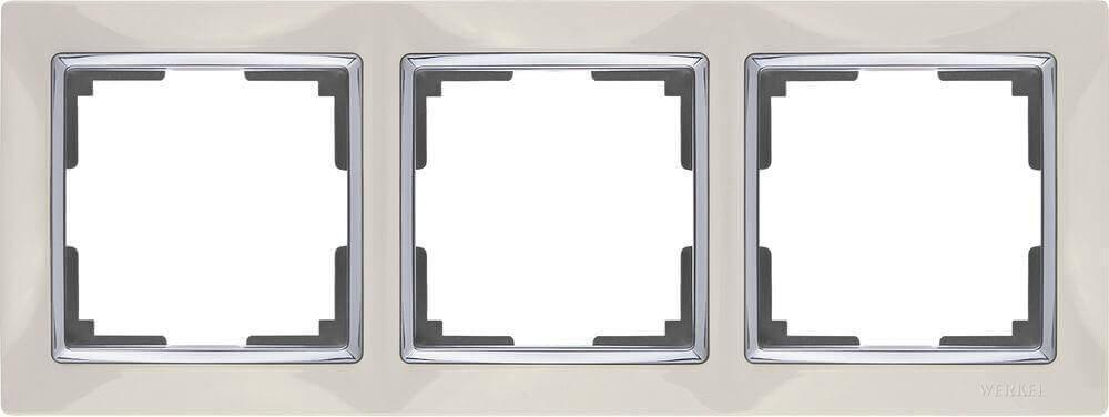 Рамка Werkel Snabb на 3 поста слоновая кость WL03-Frame-03-ivory 4690389046322