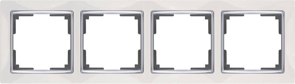 Рамка Werkel Snabb на 4 поста белая WL03-Frame-04-white 4690389046131