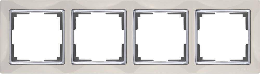 Рамка Werkel Snabb на 4 поста слоновая кость WL03-Frame-04-ivory 4690389046339