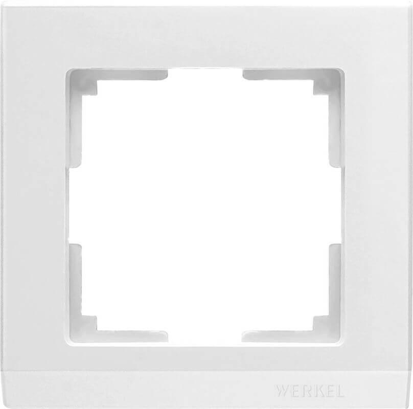 Рамка Werkel Stark на 1 пост белый WL04-Frame-01-white 4690389047107