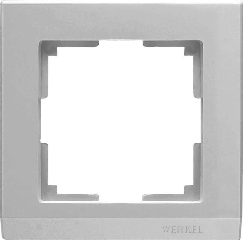 Рамка Werkel Stark на 1 пост серебряный WL04-Frame-01 4690389063688