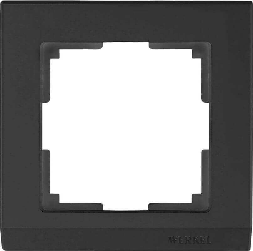 Рамка Werkel Stark на 1 пост черный WL04-Frame-01-silver/black 4690389048838