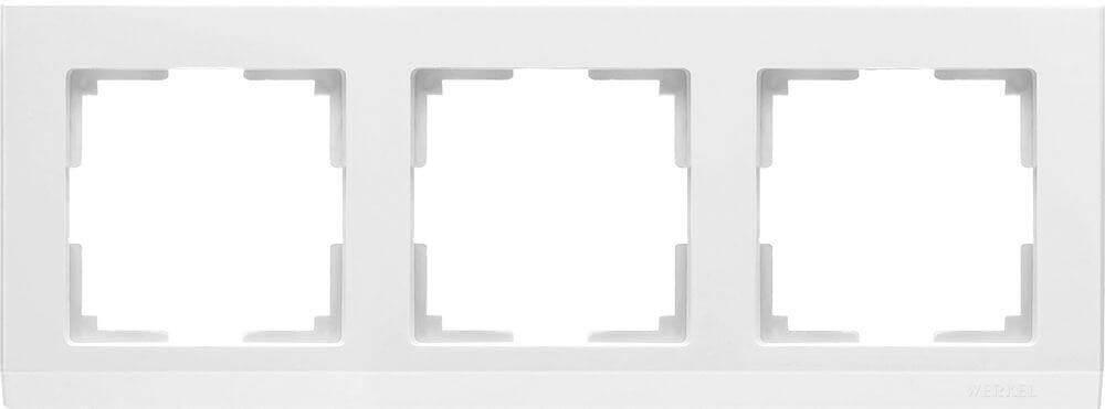 Рамка Werkel Stark на 3 поста белый WL04-Frame-03-white 4690389047121
