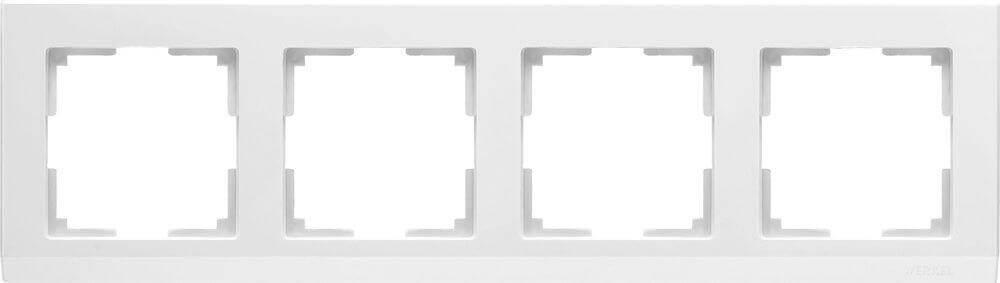 Рамка Werkel Stark на 4 поста белый WL04-Frame-04-white 4690389047138