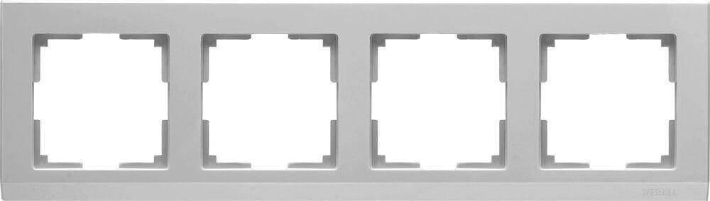 Рамка Werkel Stark на 4 поста серебряный WL04-Frame-04 4690389063718