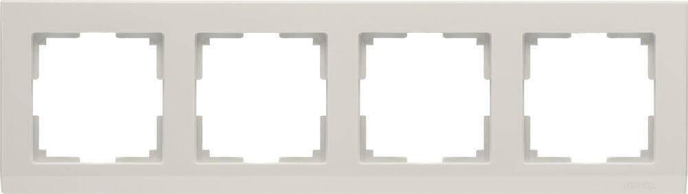 Рамка Werkel Stark на 4 поста слоновая кость WL04-Frame-04-ivory 4690389046537
