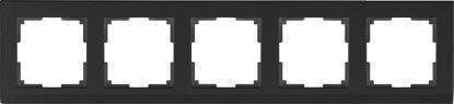 Рамка Werkel Stark на 5 постов черный WL04-Frame-05-silver/black 4690389059353