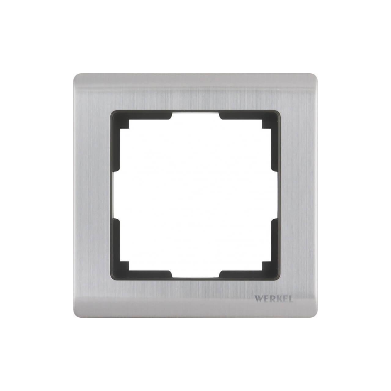 Рамка Werkel Metallic на 1 пост глянцевый никель WL02-Frame-01 4690389045905
