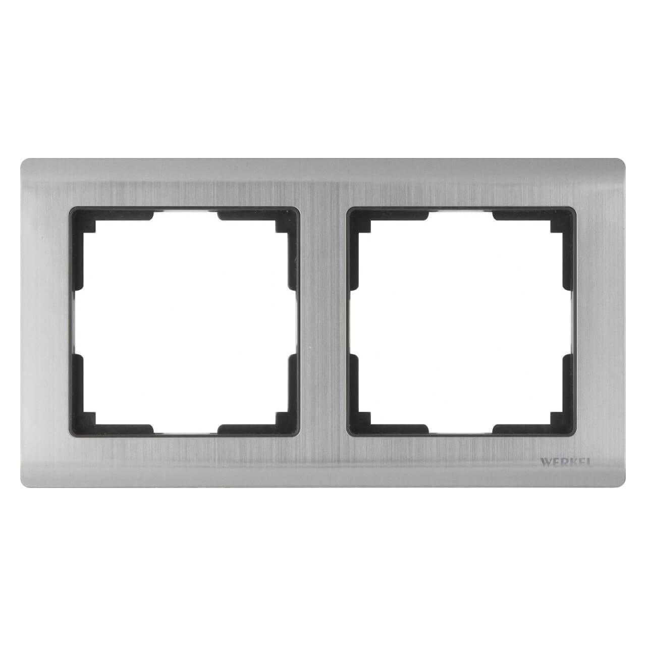 Рамка Werkel Metallic на 2 поста глянцевый никель WL02-Frame-02 4690389045912