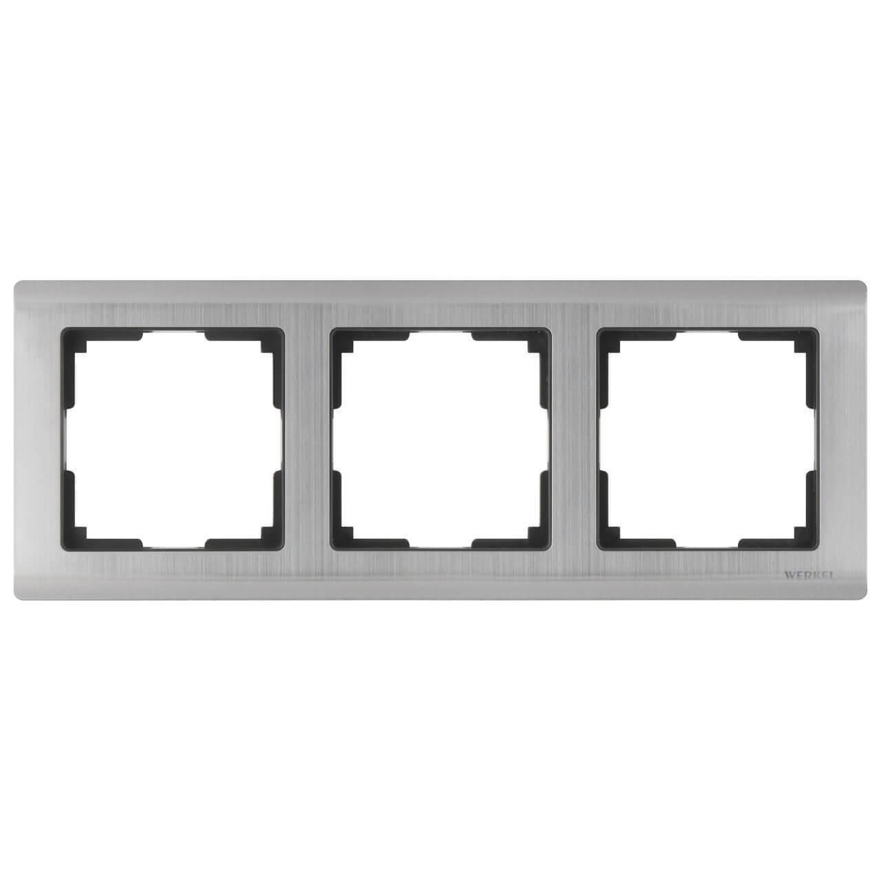 Рамка Werkel Metallic на 3 поста глянцевый никель WL02-Frame-03 4690389045929