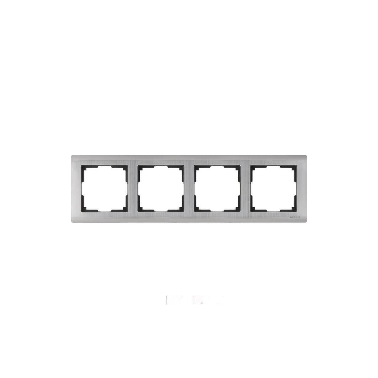 Рамка Werkel Metallic на 4 поста глянцевый никель WL02-Frame-04 4690389045936
