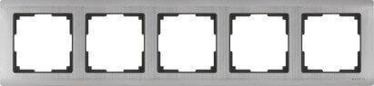 Рамка Werkel Metallic на 5 постов глянцевый никель WL02-Frame-05 4690389059322