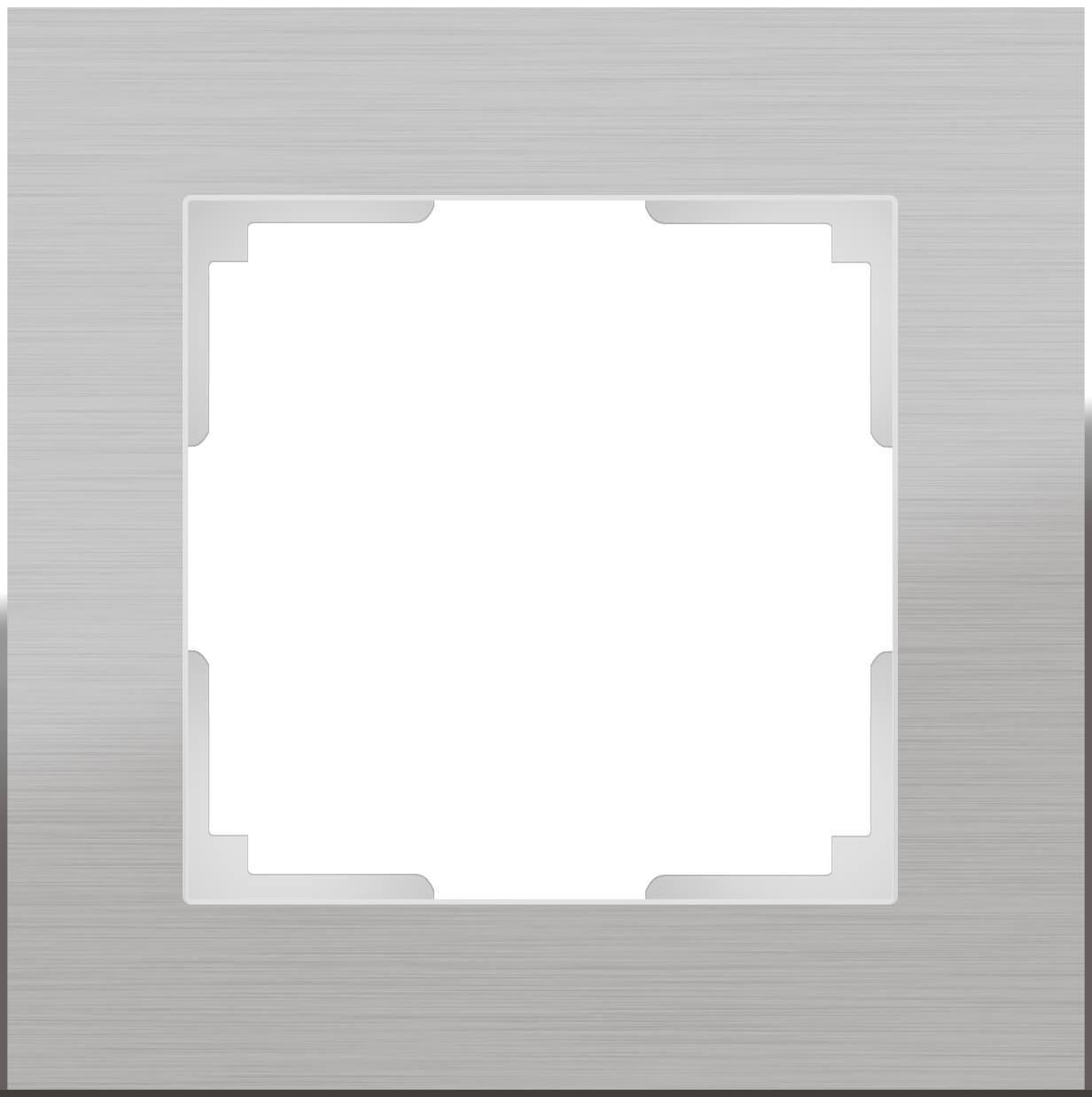 Рамка Werkel Aluminium на 1 пост алюминий WL11-Frame-01 4690389073625