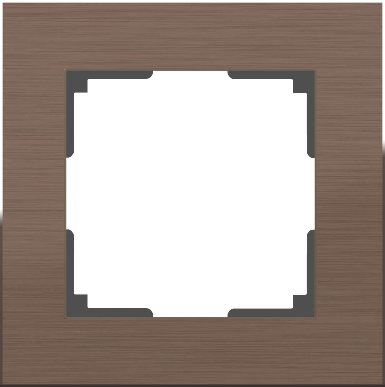 Рамка Werkel Aluminium на 1 пост алюминий коричневый WL11-Frame-01 4690389073687
