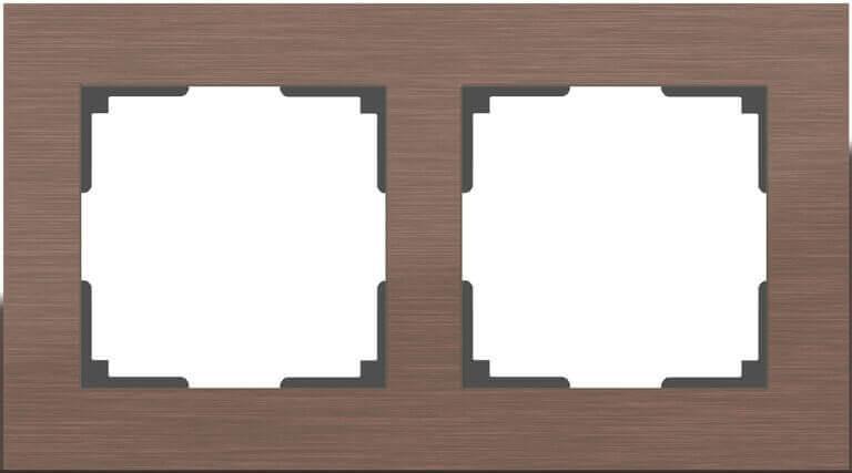 Рамка Werkel Aluminium на 2 поста алюминий коричневый WL11-Frame-02 4690389073694