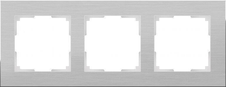 Рамка Werkel Aluminium на 3 поста алюминий WL11-Frame-03 4690389073649