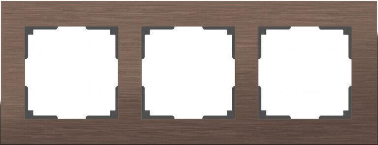 Рамка Werkel Aluminium на 3 поста алюминий коричневый WL11-Frame-03 4690389073700