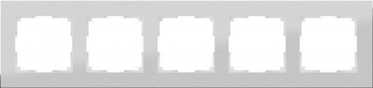 Рамка Werkel Aluminium на 5 постов алюминий WL11-Frame-05 4690389073670