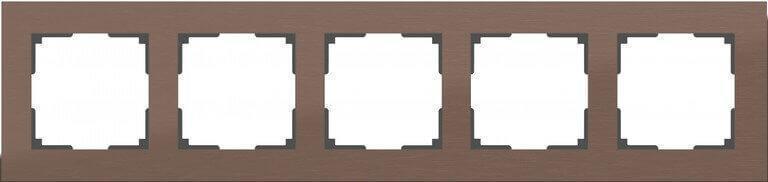 Рамка Werkel Aluminium на 5 постов алюминий коричневый WL11-Frame-05 4690389073724