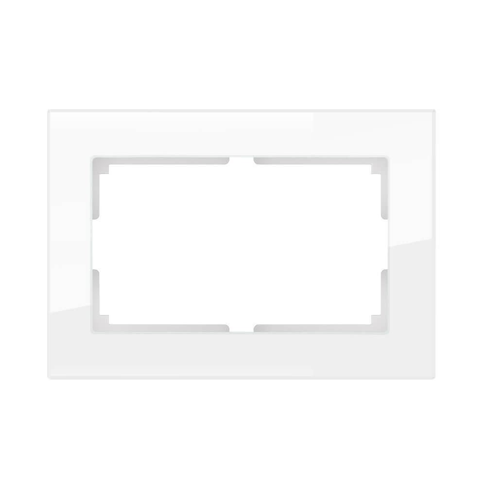 Рамка Werkel Favorit для двойной розетки белый стекло WL01-Frame-01-DBL 4690389073120