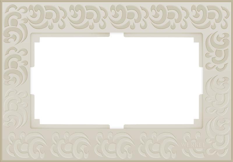 Рамка Werkel Flock для двойной розетки слоновая кость WL05-Frame-01-DBL-ivory 4690389073175