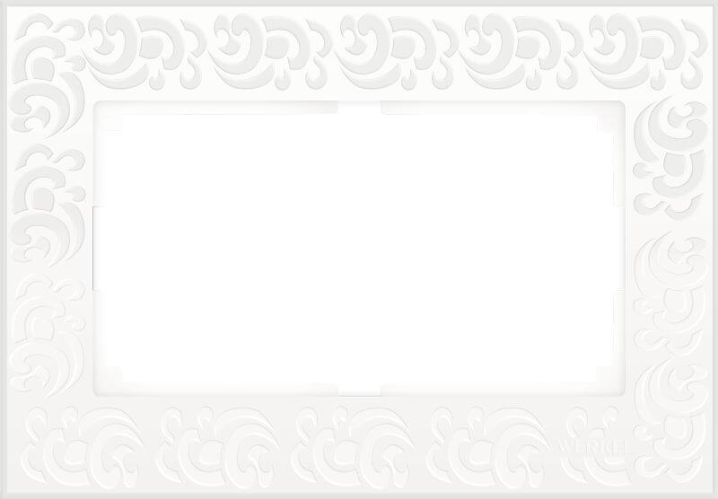 Рамка Werkel Flock для двойной розетки белый WL05-Frame-01-DBL-white 4690389073182