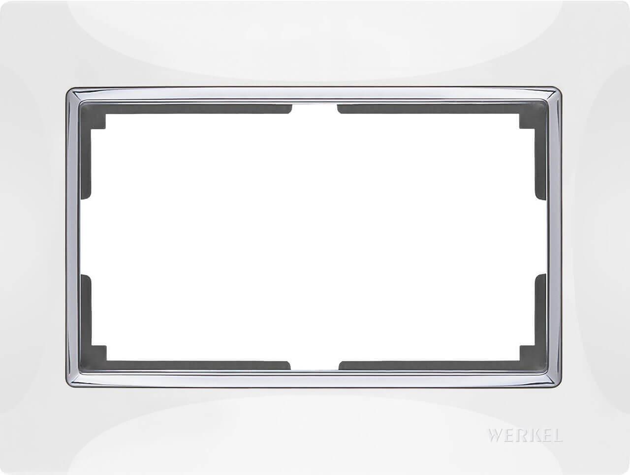 Рамка Werkel Snabb для двойной розетки белый WL03-Frame-01-DBL-white 4690389073137