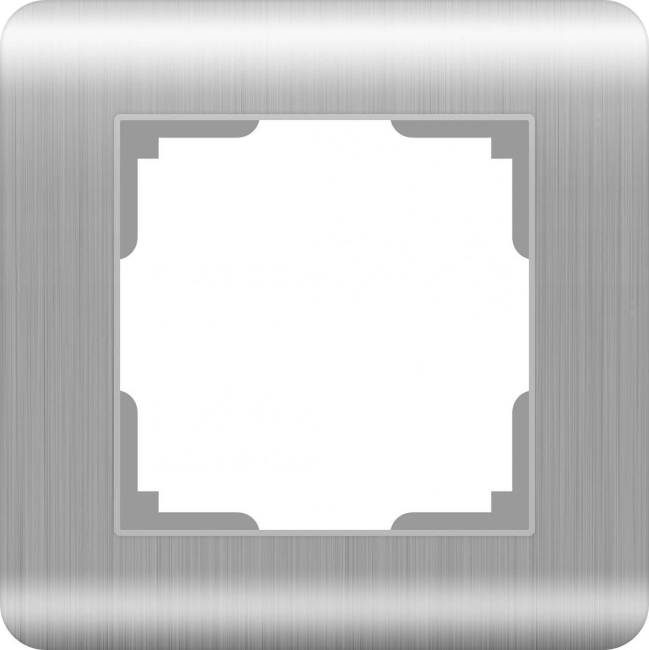 Рамка Werkel Stream на 1 пост серебряный WL12-Frame-01 4690389076367