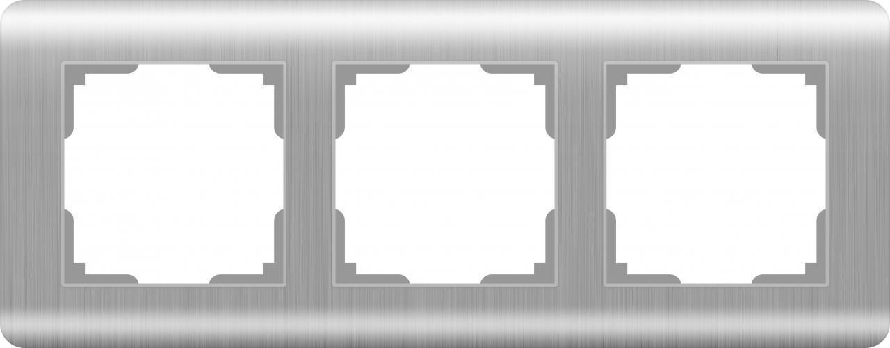 Рамка Werkel Stream на 3 поста серебряный WL12-Frame-03 4690389076381