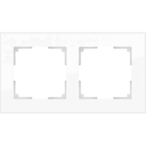 Рамка Werkel Favorit на 2 поста белая WL01-Frame-02 4690389061219