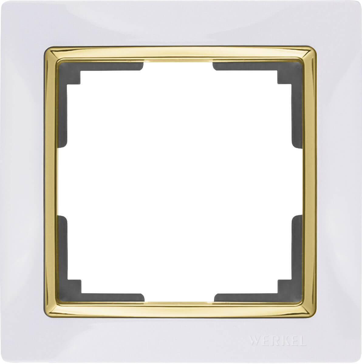 Рамка Werkel Snabb на 1 пост белый/золото WL03-Frame-01-white/GD 4690389083877