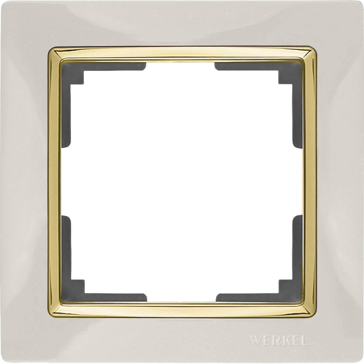 Рамка Werkel Snabb на 1 пост слоновая кость/золото WL03-Frame-01-ivory/GD 4690389083860