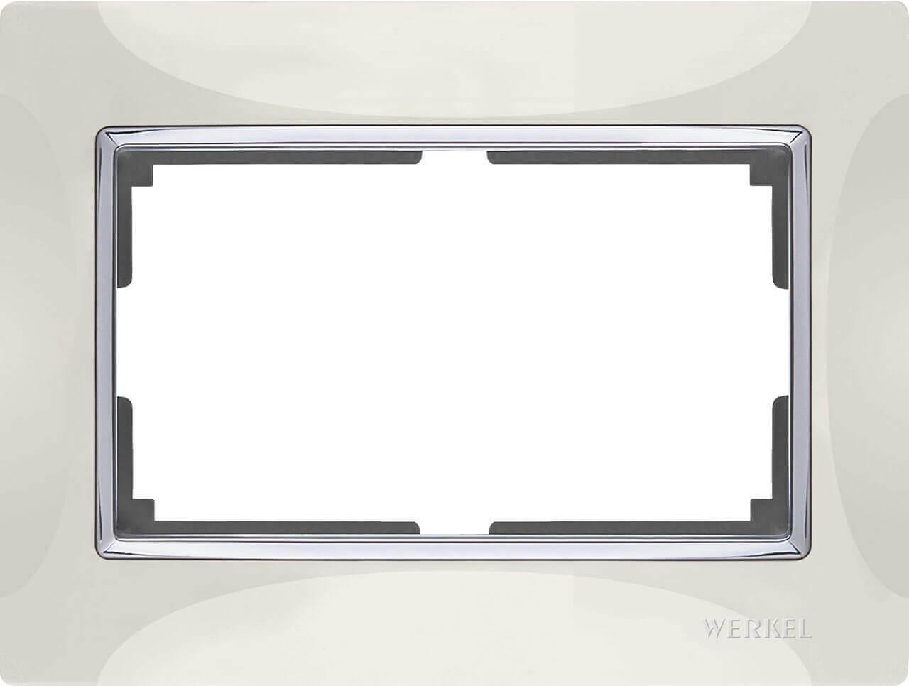Рамка Werkel Snabb для двойной розетки слоновая кость WL03-Frame-01-DBL-ivory 4690389073144
