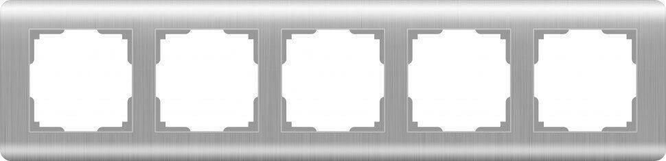 Рамка Werkel Stream на 5 постов серебряный WL12-Frame-05 4690389076404