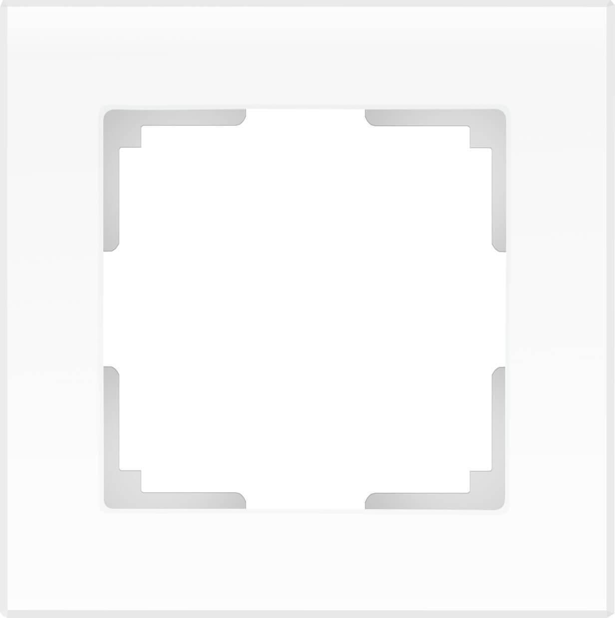Рамка Werkel Favorit на 1 пост белый матовый WL01-Frame-01 4690389098550