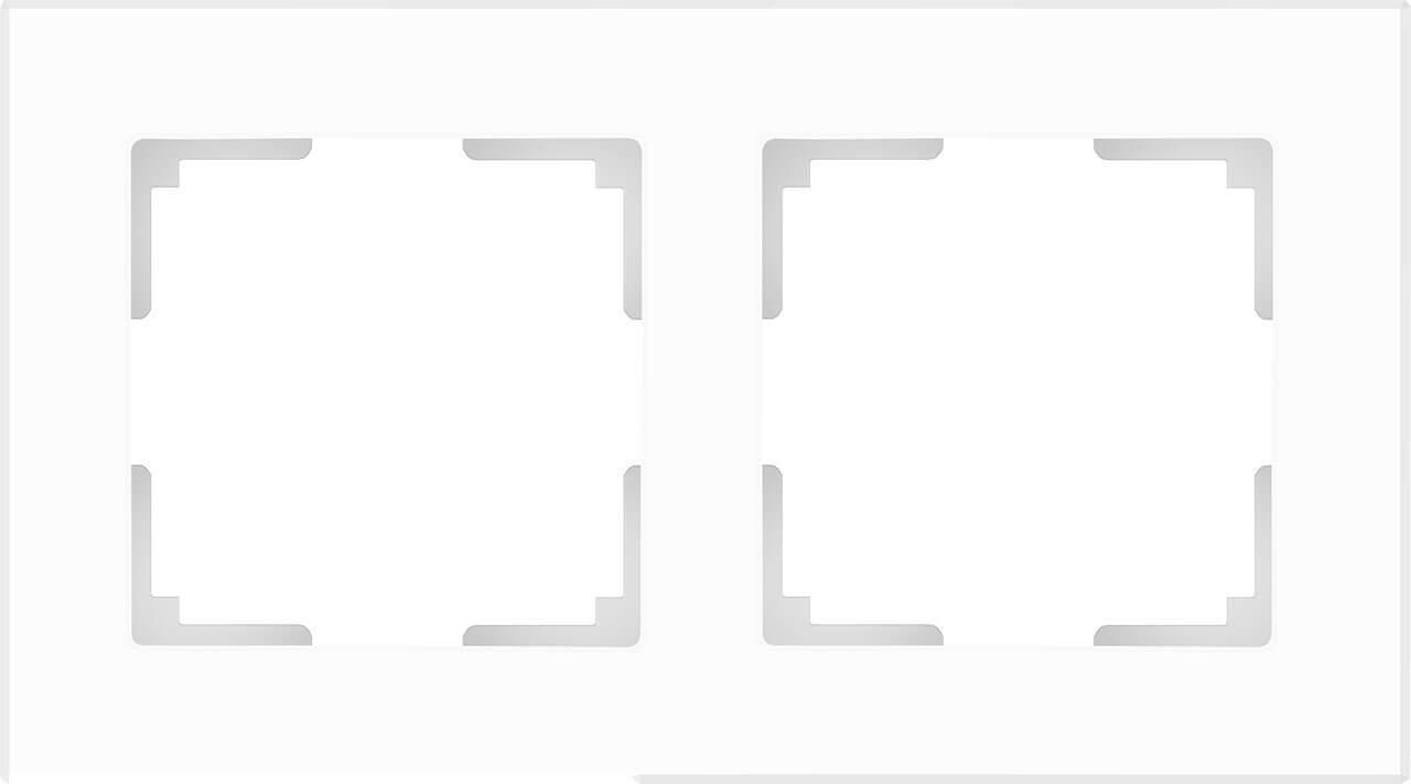Рамка Werkel Favorit на 2 поста белый матовый WL01-Frame-02 4690389098581