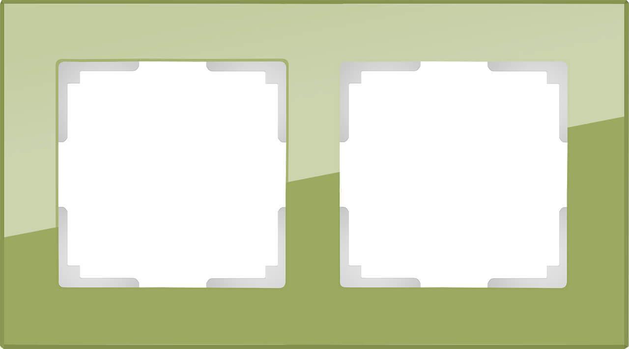 Рамка Werkel Favorit на 2 поста фисташковый WL01-Frame-02 4690389098604