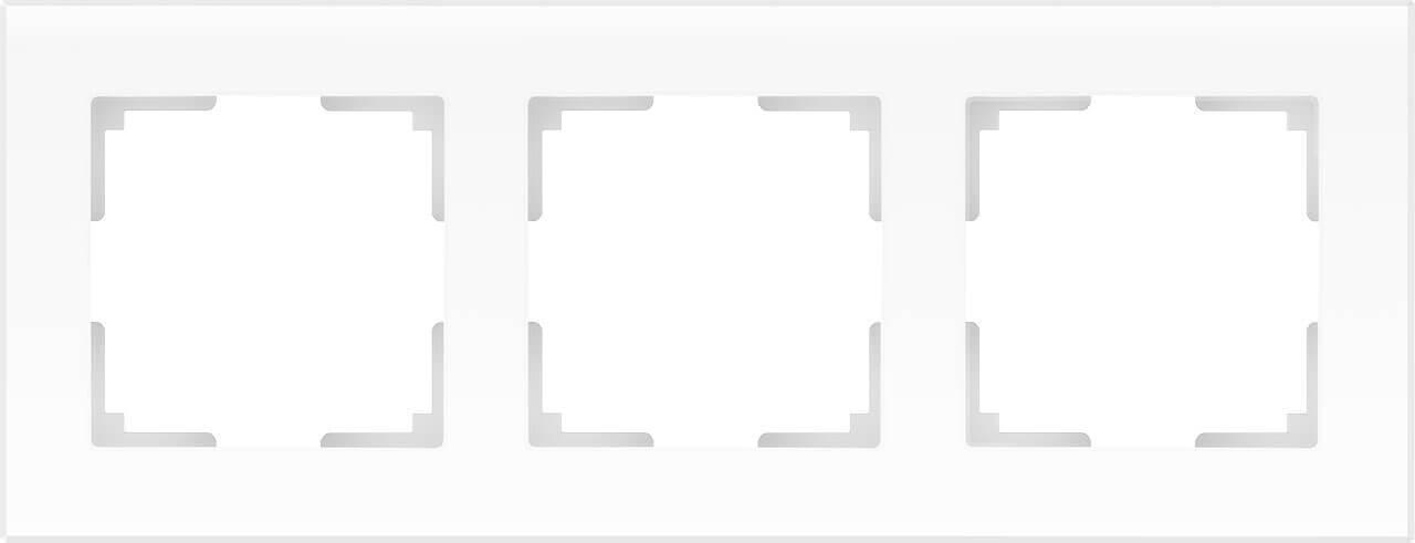Рамка Werkel Favorit на 3 поста белый матовый WL01-Frame-03 4690389098611