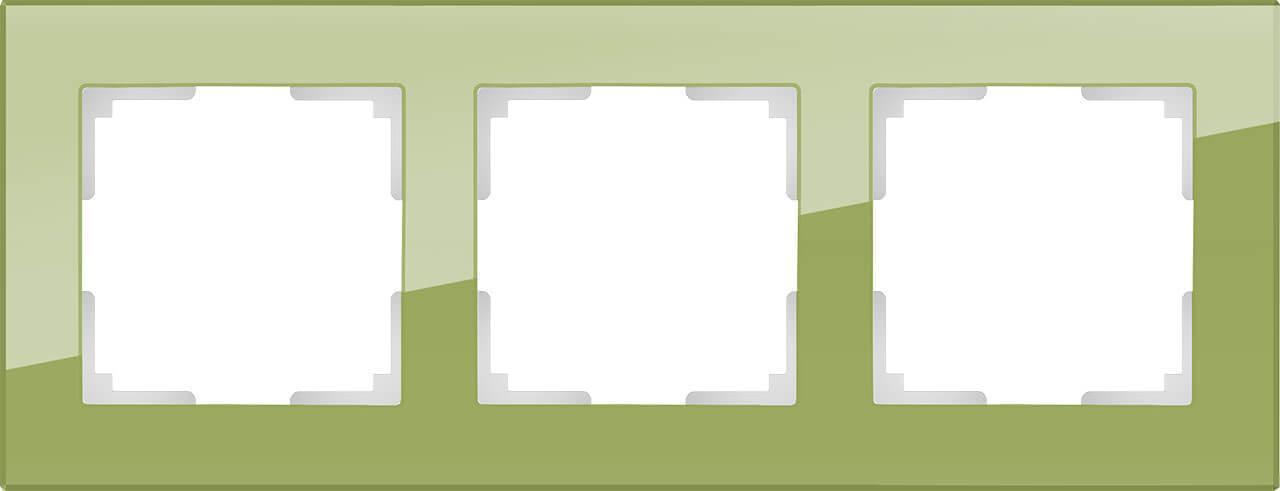 Рамка Werkel Favorit на 3 поста фисташковый WL01-Frame-03 4690389098635