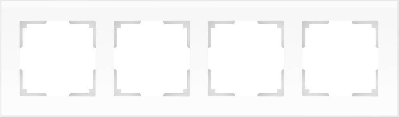 Рамка Werkel Favorit на 4 поста белый матовый WL01-Frame-04 4690389098642