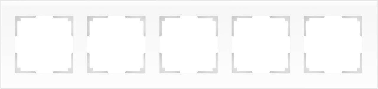 Рамка Werkel Favorit на 5 постов белый матовый WL01-Frame-05 4690389098673