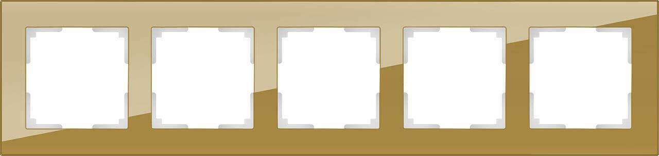 Рамка Werkel Favorit на 5 постов бронзовый WL01-Frame-05 4690389098680
