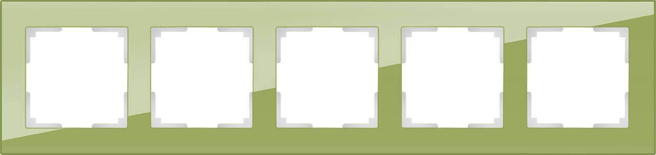 Рамка Werkel Favorit на 5 постов фисташковый WL01-Frame-05 4690389098697