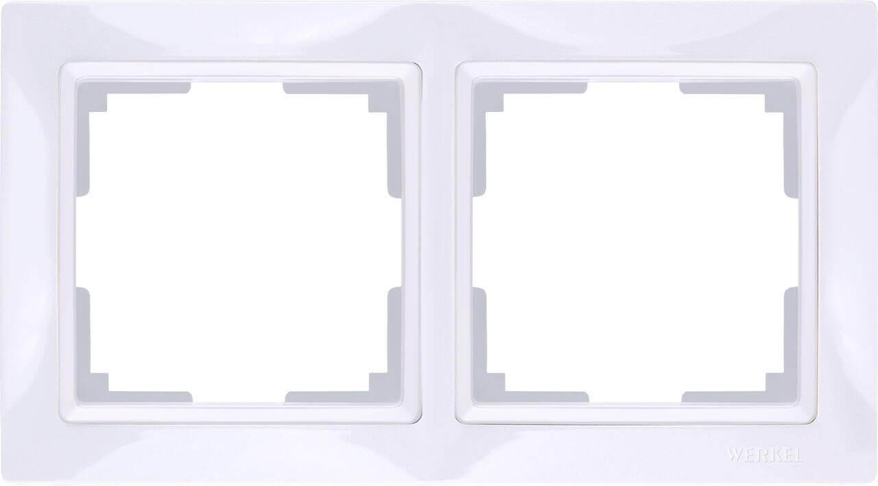 Рамка Werkel Snabb Basic на 2 поста белый WL03-Frame-02 4690389098734