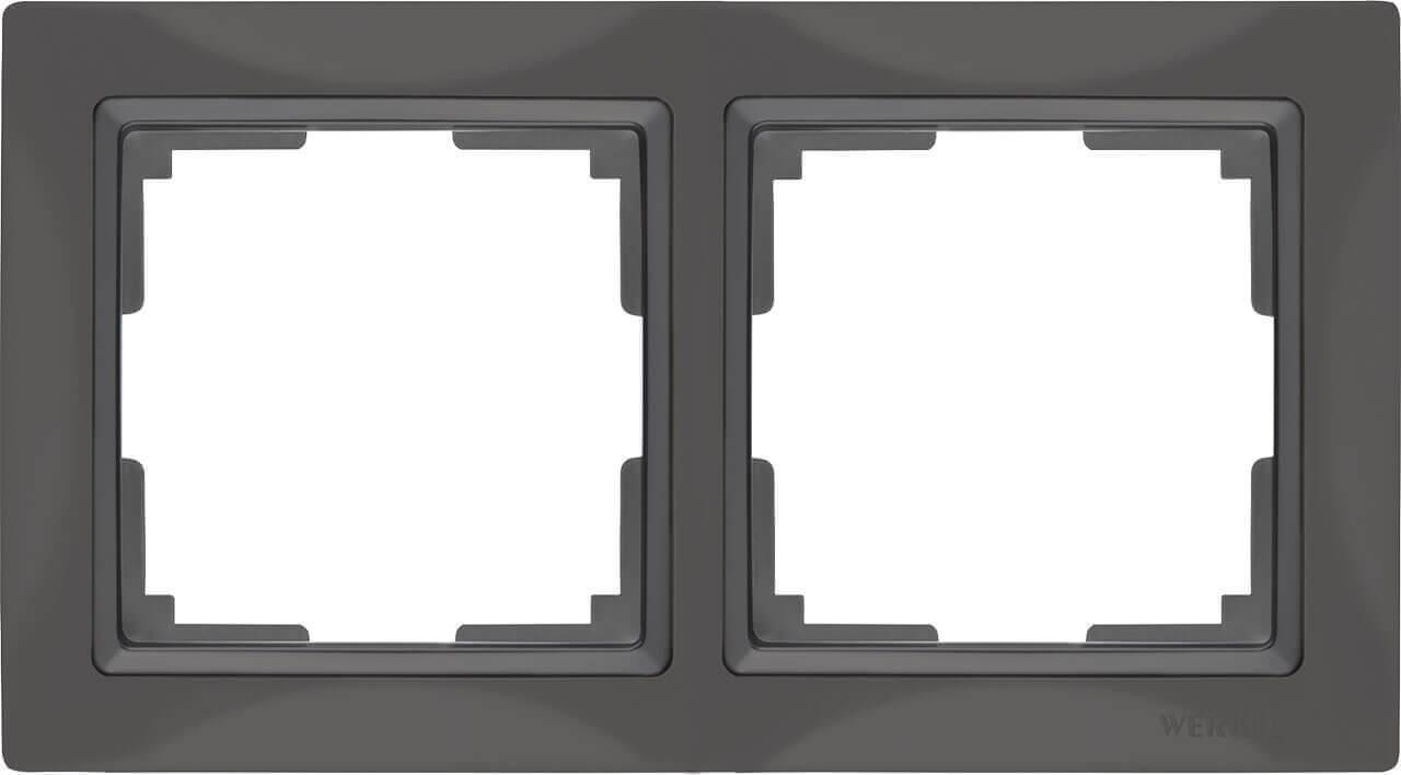 Рамка Werkel Snabb Basic на 2 поста серо-коричневый WL03-Frame-02 4690389099045