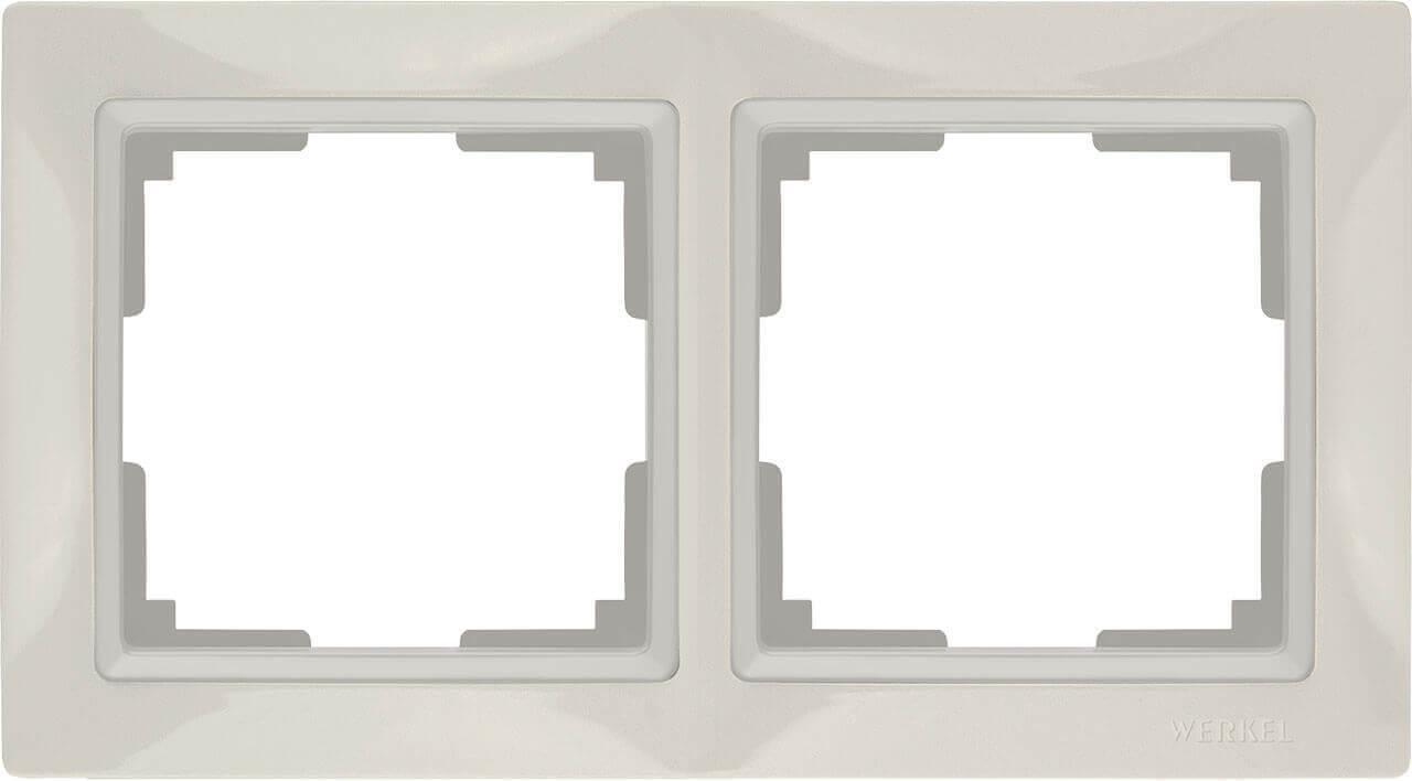 Рамка Werkel Snabb Basic на 2 поста слоновая кость WL03-Frame-02 4690389098727