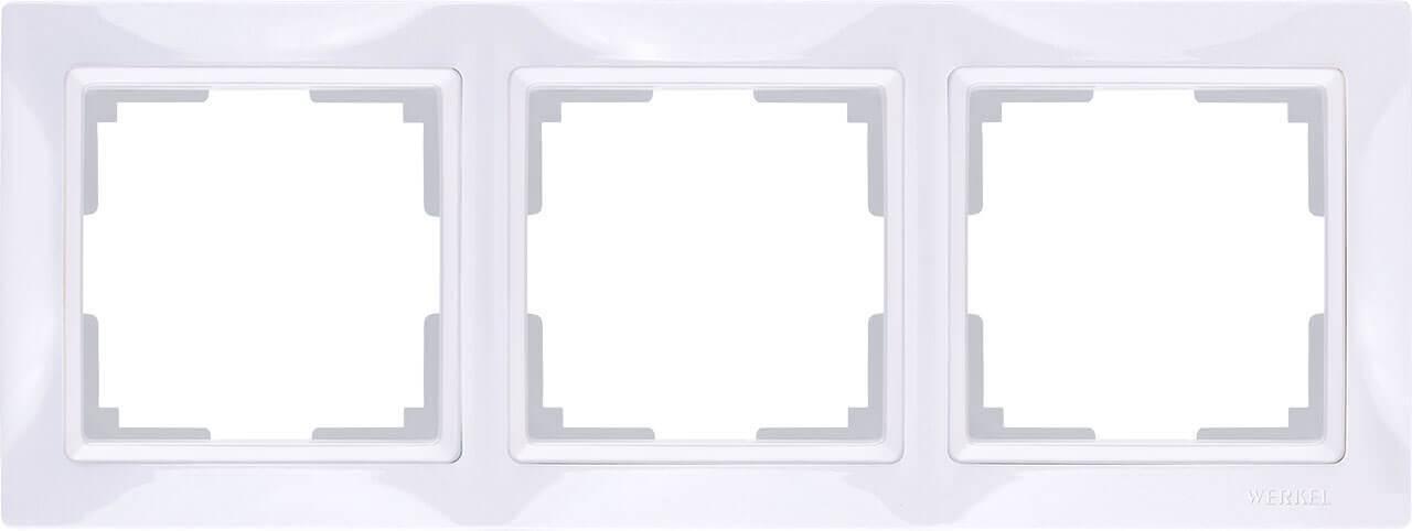 Рамка Werkel Snabb Basic на 3 поста белый WL03-Frame-03 4690389098758